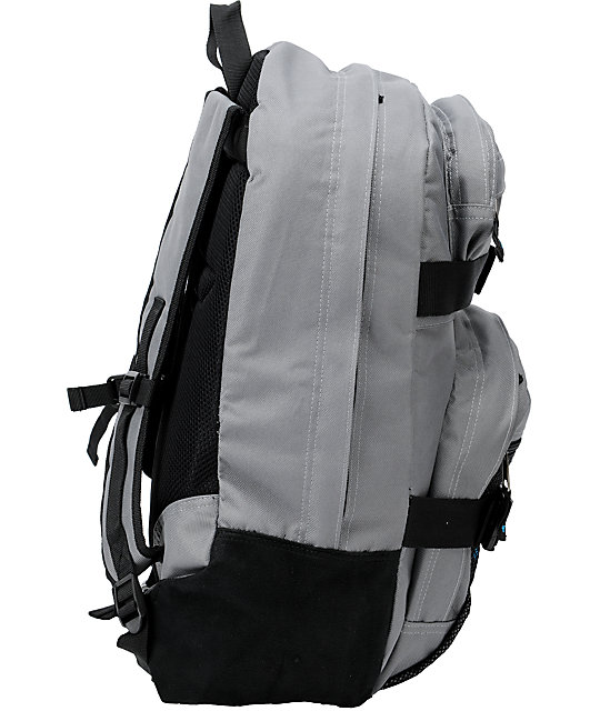Fallen Insignia Grey & Cyan Skate Backpack
