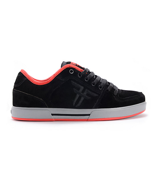 Fallen Patriot II Black, Grey, & Red Skate Shoes