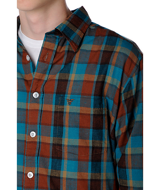 Fallen Richmond Blue Woven Shirt