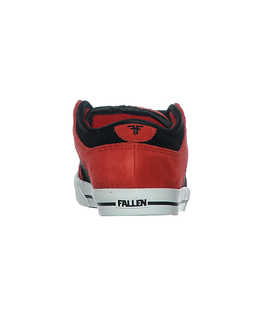 Fallen Shoes Boys Ripper Red & Black Skate Shoes
