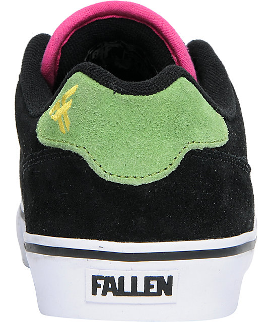 Fallen Shoes Slash Black & Taffy Suede Skate Shoes