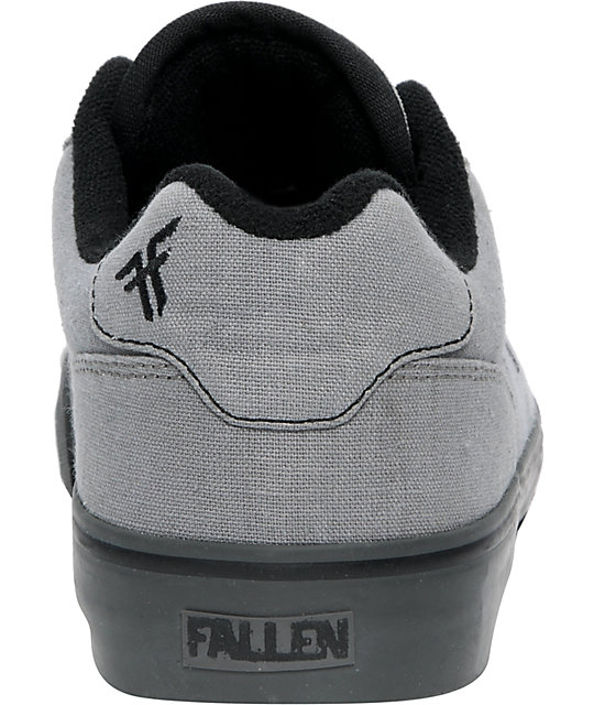 Fallen Shoes Slash Grey Suede & Black Skate Shoes