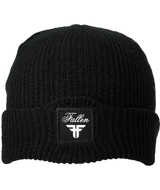 Fallen Shoes Wharf Black Beanie