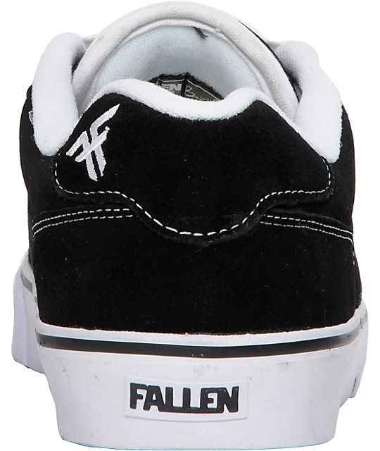 Fallen Slash Black & White Skate Shoes