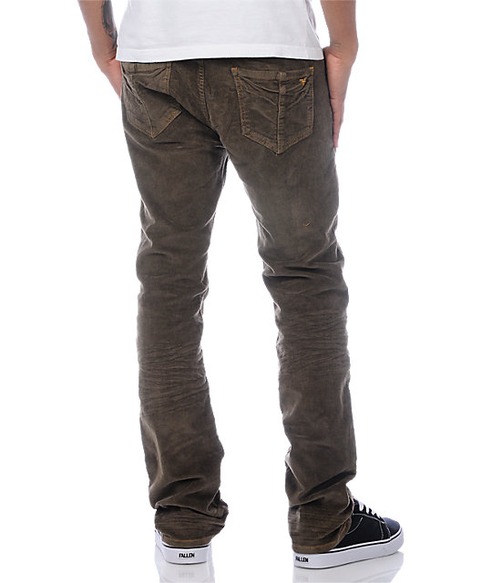 Fallen Thomas Signature Cord Light Brown Pants