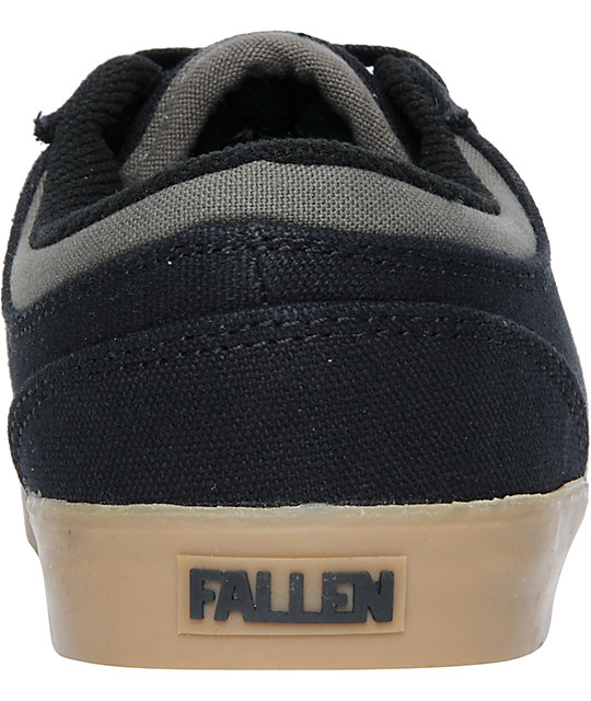 Fallen Vice Billy Marks Black & Gum Canvas Skate Shoes