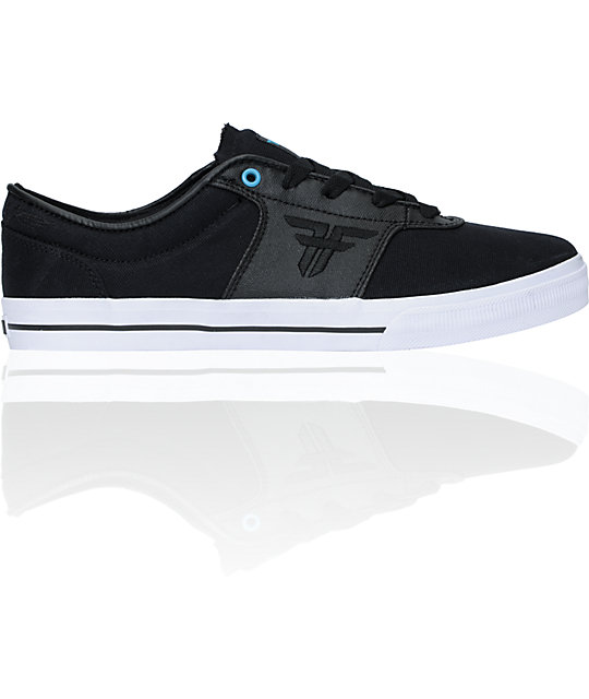 Fallen Victory Black & Cyan Waxed Canvas Skate Shoes