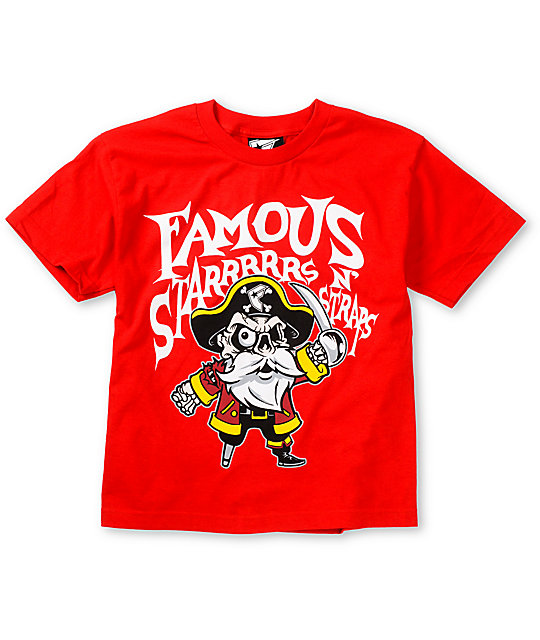 Famous Stars & Straps Boys Pirate Red T-Shirt