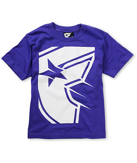 Famous Stars & Straps Boys Shadow Purple T-Shirt