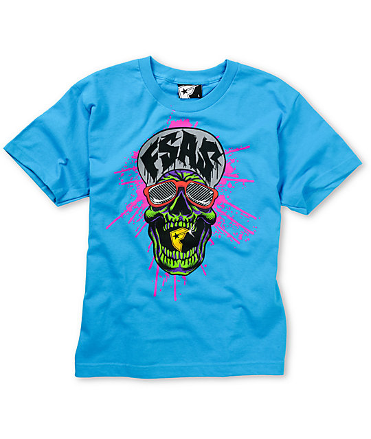 Famous Stars & Straps Boys Too Famous Turquoise Blue T-Shirt