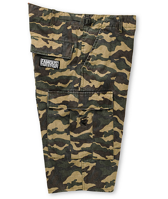 Famous Stars & Straps Camo Cargo Shorts