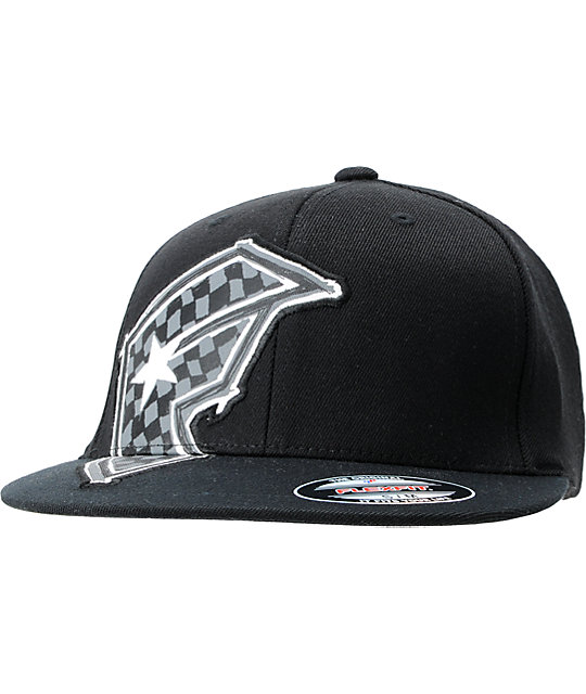 Famous Stars & Straps Check It Black Fitted Hat