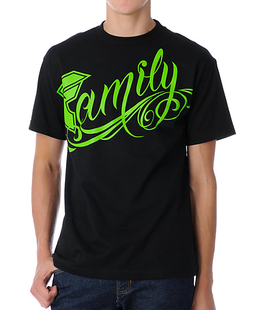 Famous Stars & Straps Family Black & Green T-Shirt