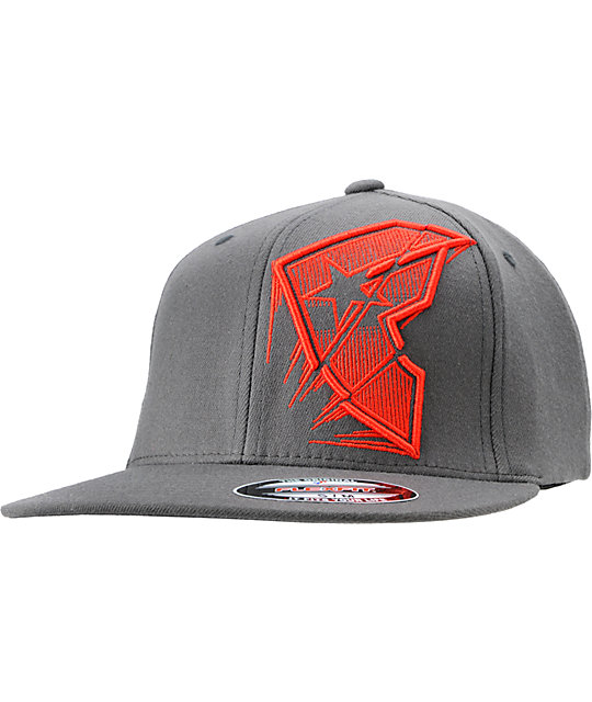 Famous Stars & Straps Flash Forward Charcoal Flexfit Hat
