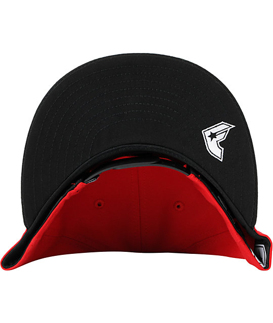 Famous Stars & Straps League Red & Black New Era Snapback Hat