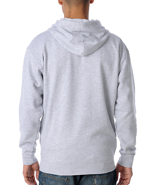 Famous Stars & Straps OG BOH Grey Zip Up Hoodie