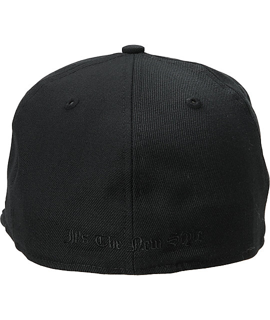 Famous Stars & Straps Original All Black New Era Fitted Hat