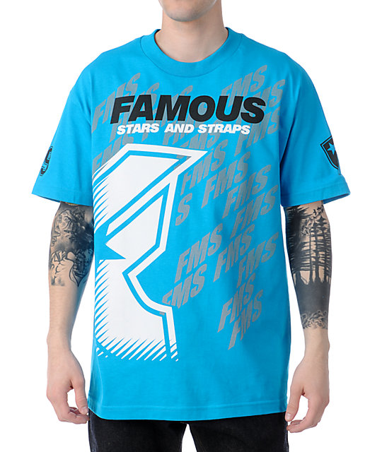 Famous Stars & Straps Tilted Rally Aqua T-Shirt