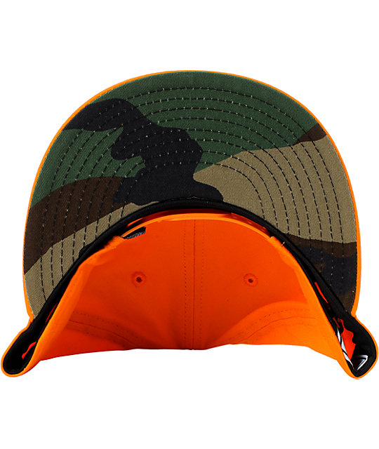 Famous Stars & Straps Woodlands Orange New Era Snapback Hat