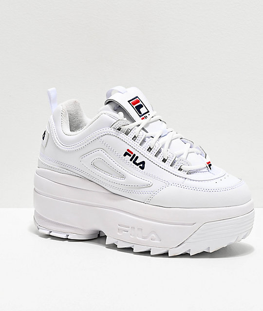 Fila Disruptor Ii White Super Platform Shoes