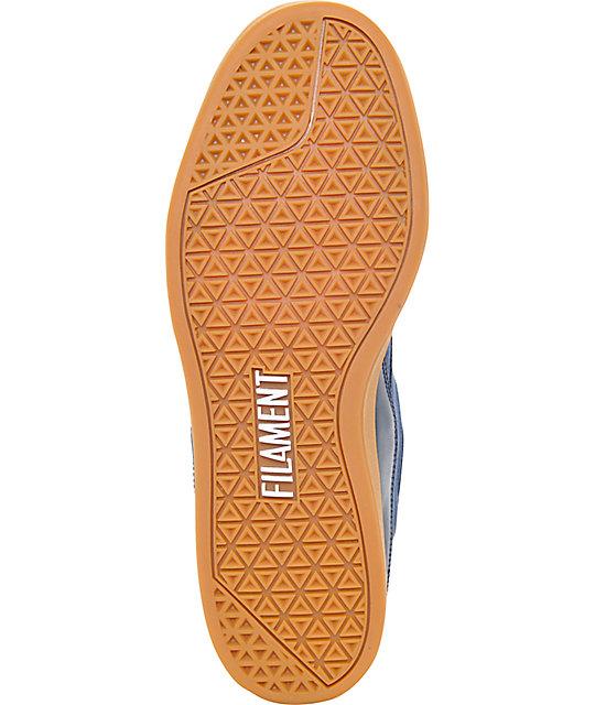 ed936ae42cf ... Filament Moose Navy   Gum Suede Skate Shoes ...