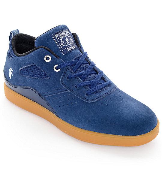 32cf327b2e1 Filament Moose Navy   Gum Suede Skate Shoes