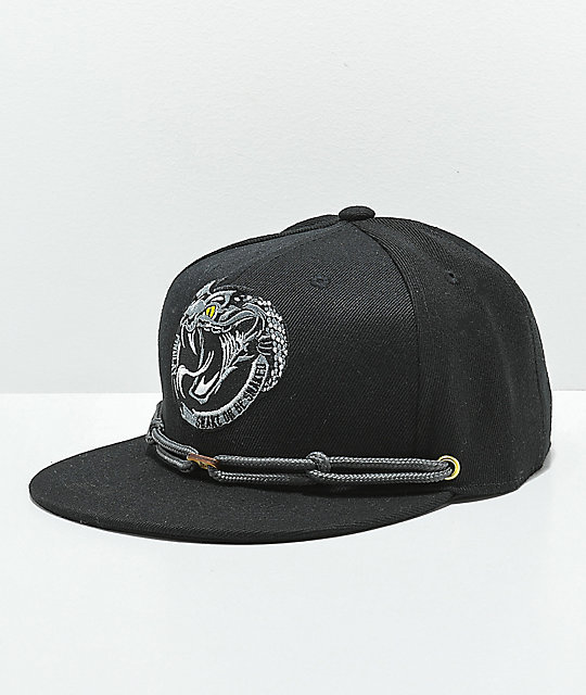 Findlay Yellow Belly Sea Snake Black Snapback Hat