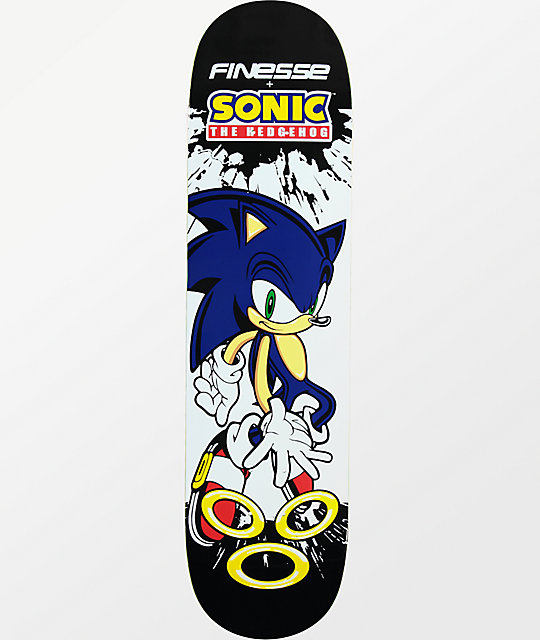 "Finesse Sonic The Hedgehog 8.0"" tabla de skate"