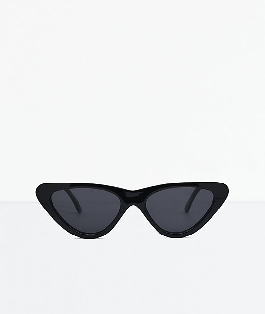 Flat Cat Round Black Sunglasses