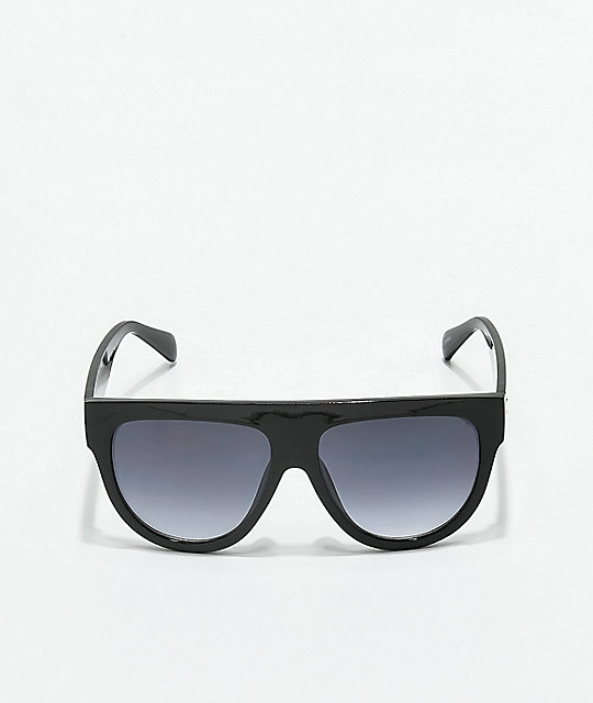 Flat Top Black Bar Sunglasses