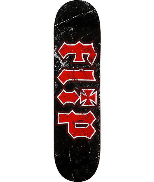 "Flip Thrashed Black 8.23""  Team Skateboard Deck"