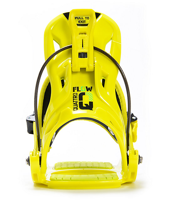 Flow Quattro Lime Green Snowboard Bindings