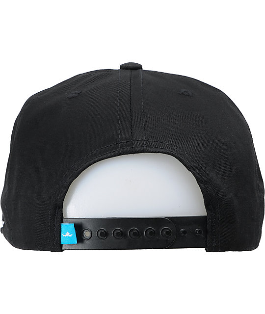 Fly Society Jetsetter Black Snapback Hat
