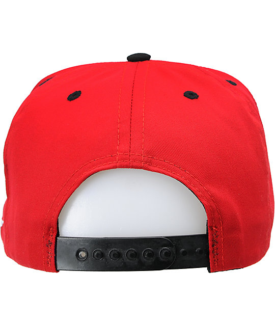 Fly Society Jetsetter Red & Black Snapback Hat