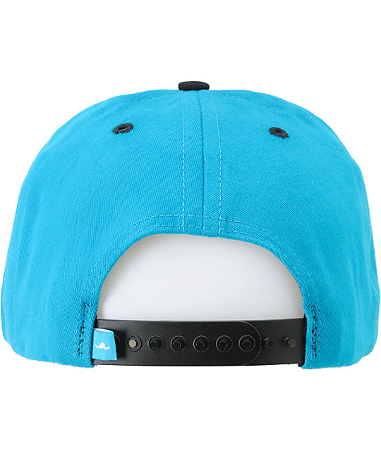 Fly Society Patch Turquoise & Black Snapback Hat