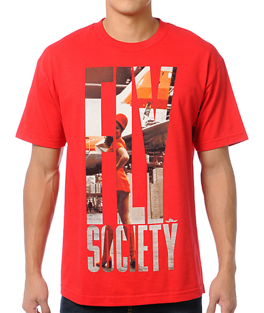 Fly Society Stewardess Red T-Shirt
