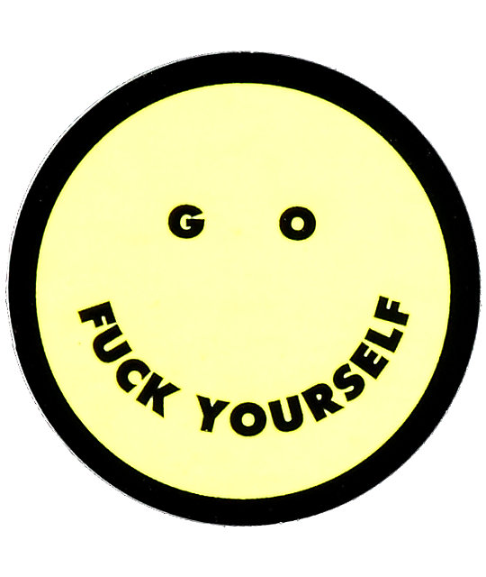 Flying Coffin Go F*CK Yourself Sticker