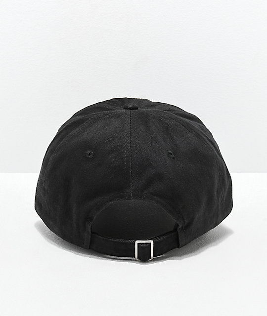 Flying Coffin Logo Black Strapback Hat