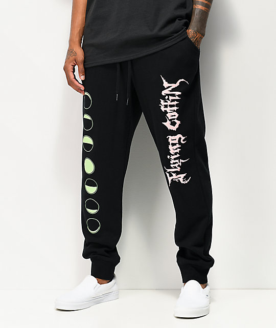 Flying Coffin Phases Black Jogger Sweatpants