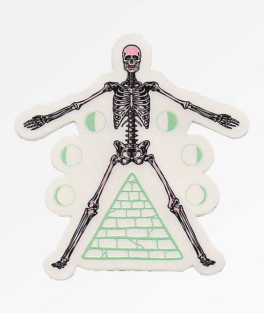 Flying Coffin Phases Sticker