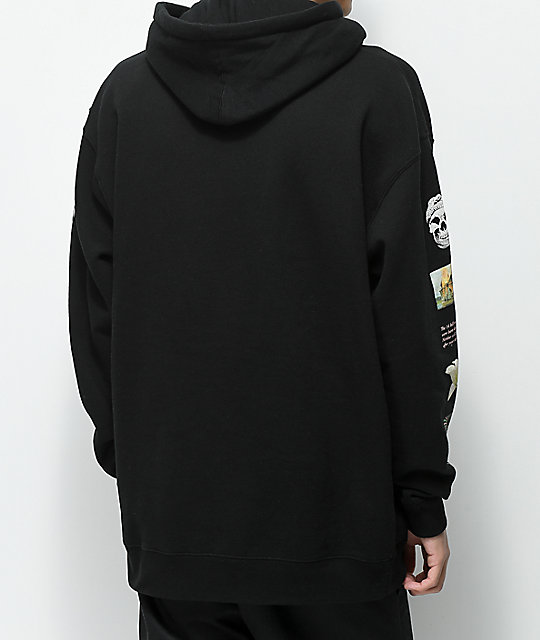 Flying Coffin Stack Black Hoodie
