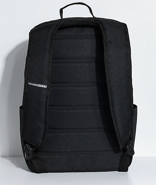 Focused Space Board Of Educaton Black Stripe Backpack