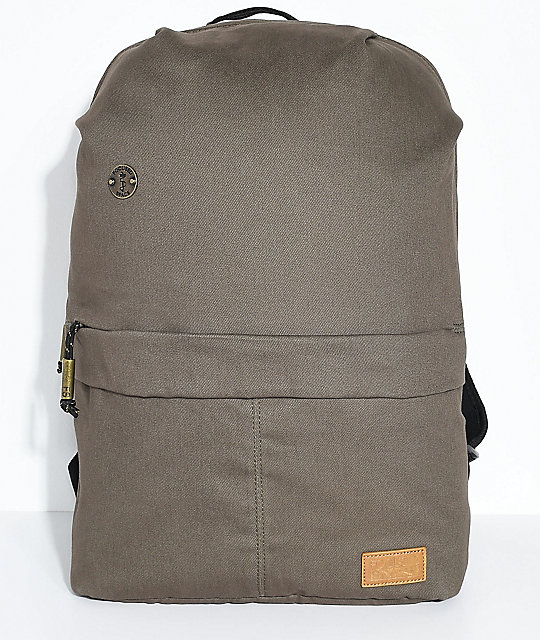 Focused Space The Seamless Olive Canvas Backpack