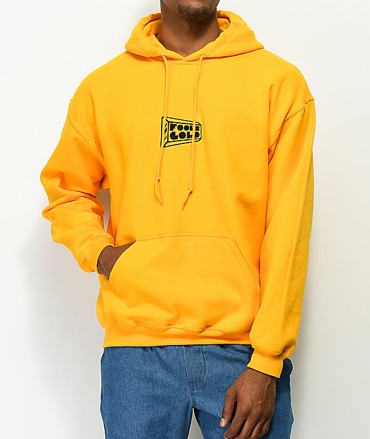 Fool's Gold Micro Logo Gold Hoodie