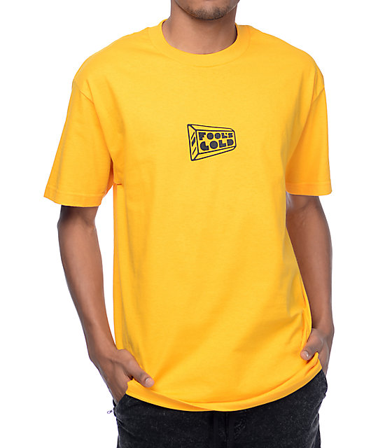 Fool's Gold Small Logo Gold T-Shirt