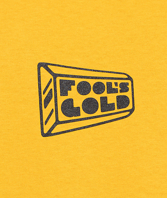 Fool's Gold Small Logo camiseta en color oro