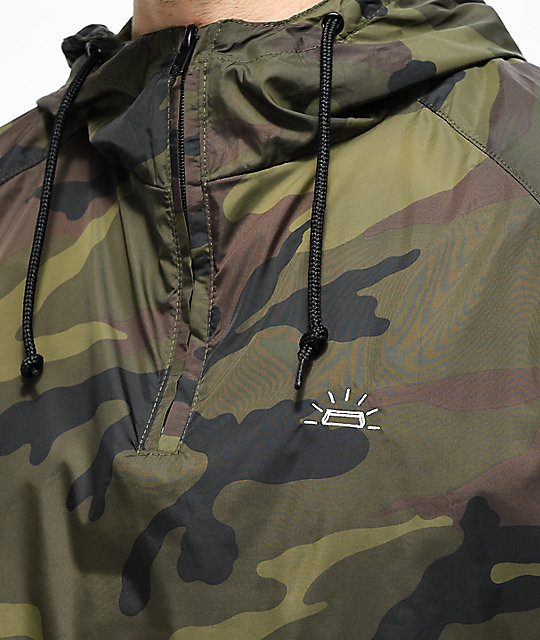 Fortune Camo Anorak Windbreaker Jacket