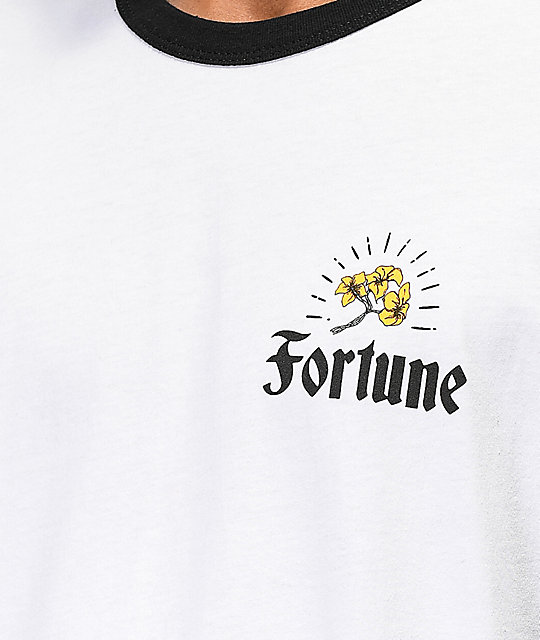 Fortune Checkered Lily White & Black T-Shirt