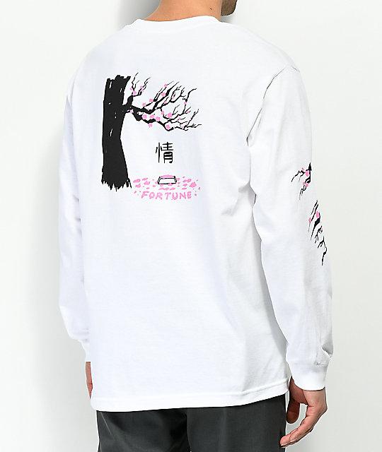 Fortune Cherry Blossom White Long Sleeve T Shirt