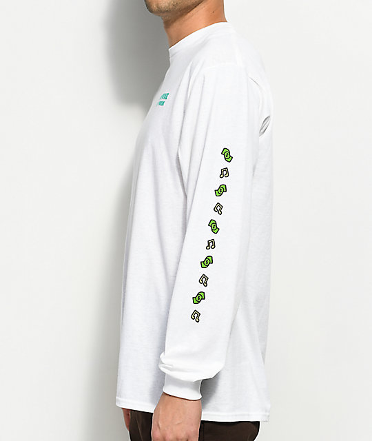 Fortune Daily Grind White Long Sleeve T-Shirt